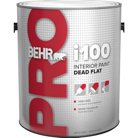 behr pro 1 gal i100 toned base flat interior paint pr11001 the home depot