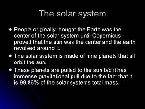6th Grade Chapter 14- solar system