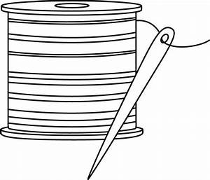 Black and White Needle and Thread Clip Art - Free sewing ...