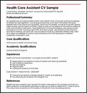 how to write a cover letter for health care assistant - health care assistant cv sample myperfectcv