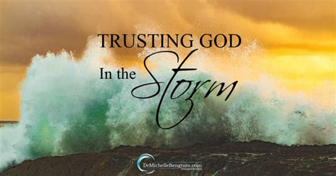 trusting god   storm dr michelle bengtson