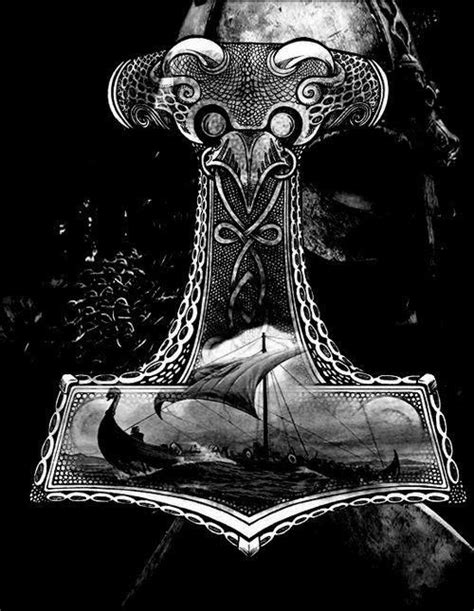 Mjolnir   Viking art, Norse mythology, Viking tattoos