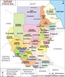 South Sudan Africa Political Map