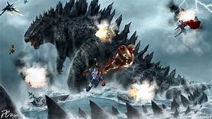 Godzilla Vs Avengers Full HD Wallpaper and Background ...