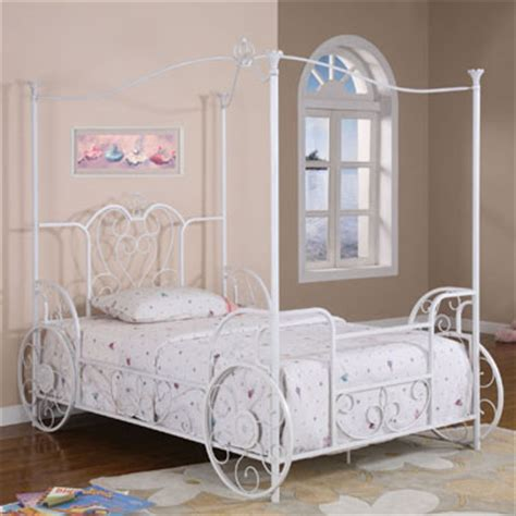 shabby chic canopy bed powell princess emily shabby chic white with pink sand through carriage canopy full size bed 374