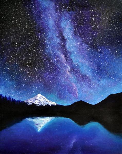 Hood The Milky Way Original Acrylic Painting Art