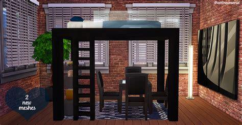 sims  blog apartment loft bed set  pixeldreamworld