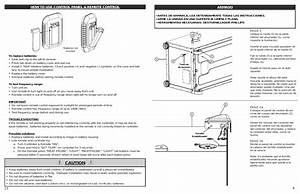 Caution  How To Use Control Panel  U0026 Remote Control  Armado