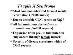 Fragile X Syndrome: Learn about it, work to cure it. Fragile X Syndrome