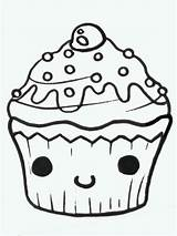 Cupcake Drawings Drawing Cupcakes Draw Easy Face Birthday Clipart Cliparts Kawaii Eating Doodle Copy Cut Computer Noya Google Clip Projects sketch template