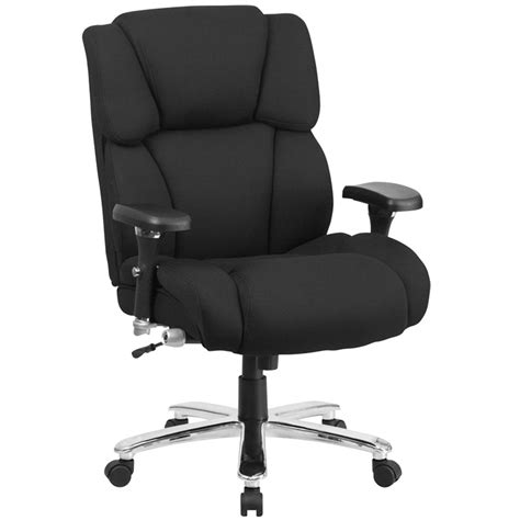 Office Chairs With Lumbar Support by High Back Black Fabric Intensive Use Multi Shift Swivel