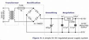 Image Result For 5 Volt Regulated Dc Power Supply Circuit