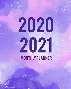 December 2020 Calendar With Holidays 2020 2021 Monthly Planner Purple Cover 2 Year Monthly