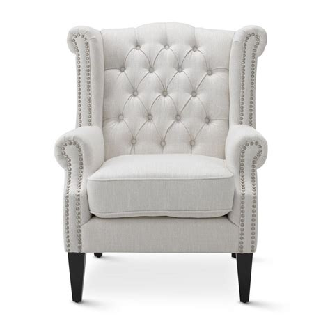 white wingback chairs linen white royale wingback arm chair black mango