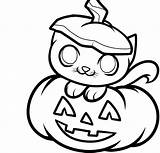 Pumpkin Drawing Coloring Halloween Pages Scary Getdrawings sketch template