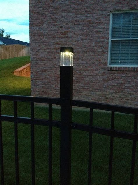 diy fence post lights  solar lights  target fit