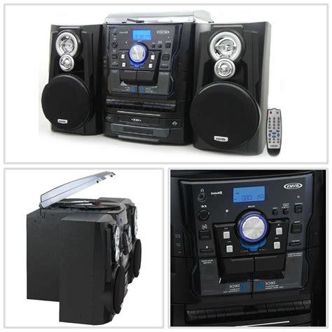 Jensen JMC1250 Bluetooth 3-Speed Stereo Turntable and 3