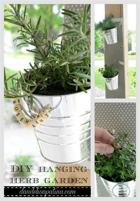 hanging herb garden diy hanging herb garden dandelion patina