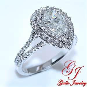 pear shaped engagement ring with halo eng01233b halo pear shape engagement ring including center