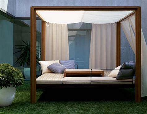 outdoor beds 30 outdoor canopy beds ideas for a romantic summer freshome com