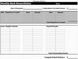 bank reconciliation template cyberuse With bank reconciliation template xls