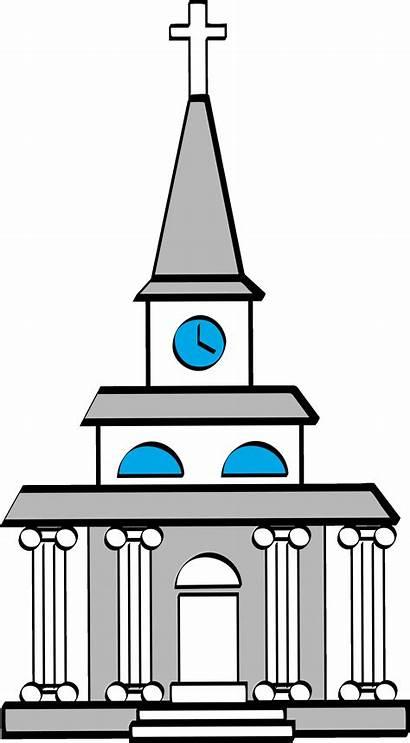 Church Clip Clipart Catholic Religious Cross Bible