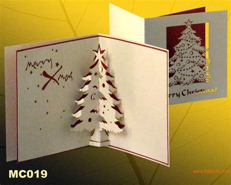 christmas tree handmade pop up greteting cards christmas