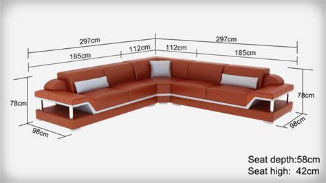 dimension canapé d angle canapé d 39 angle en cuir l relax pop design fr