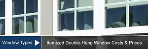 Double Hung Window Cost For Install  U0026 Replacement