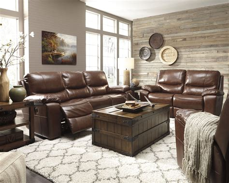 Reclining Living Room Set by Penache Saddle Power Reclining Living Room Set From