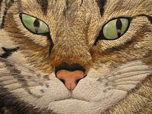 Brubaker Landscape Designs Bonnie Clyde Animal Quilts Landscape Quilts Cat Quilt