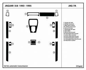Dash Kit Trim For Jaguar Xj6 93 94 95 1993 1994 1995 Wood Carbon Interior Cover