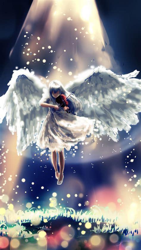 wallpaper angel anime girl guitar heaven anime