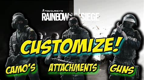 rainbow  siege customization weaponsclasses