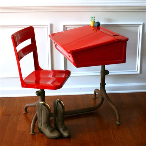 Vintage School Desk With Chair Attached by Reserved For Acfitts Inspired Learning Vintage School Desk