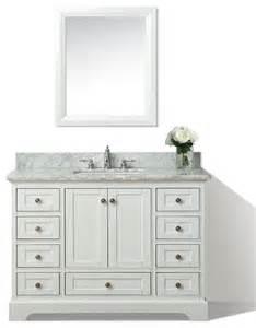 audrey 48 quot bath vanity set white houzz exclusive