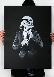 Smart trooper, Star Wars Art Screen printed poster, Storm ...