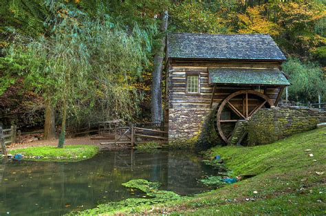 colonial home plans mill pond in woods photograph by william jobes