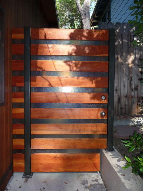 modern livingrooms steel wood and translucent fiberglass side gate