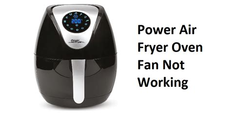 air fan working oven fryer power vickie fixes save