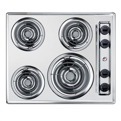 electric summit coil cooktop chrome appliance elements cooktops depot