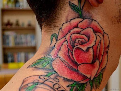40 Modern Rose Tattoos For Neck