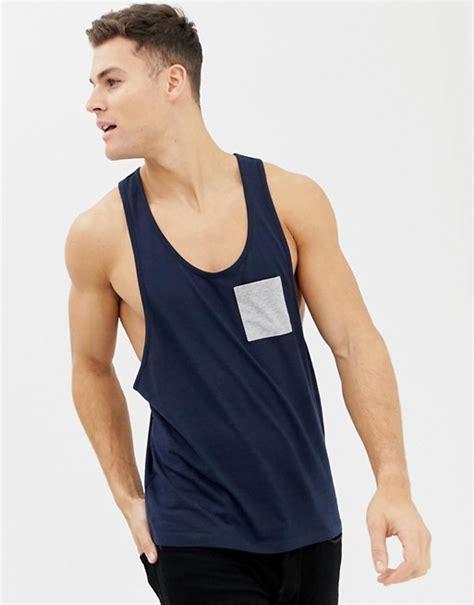 Asos Vest With Racer Back asos design racer back vest with contrast pocket