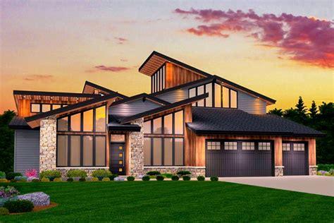 smash hit modern house plan   master suites