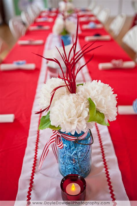 tissue paper flowers  mason jar centerpieces