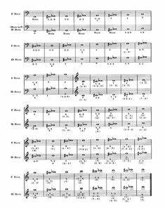 French Horn Chart French Horn Collages