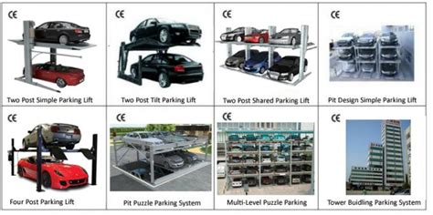 8-25 Floors Multi-level Tower Parking System Automatic Car