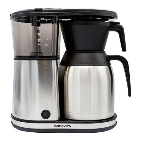 Recently, in the pursuit of a better cup of joe, i've developed what my officemates have called an odd ritual with the coffee machine. Buy Bonavita 8-Cup Carafe Coffee Brewer - Groundwork ...