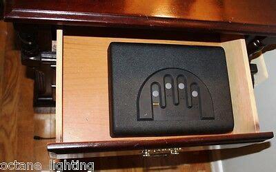 gun safe nightstand drawer desk combo combination microvault pistol lock vault ebay