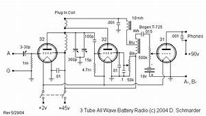 Dave U0026 39 S 3 Tube All Wave Receiver  Schematic In 2019